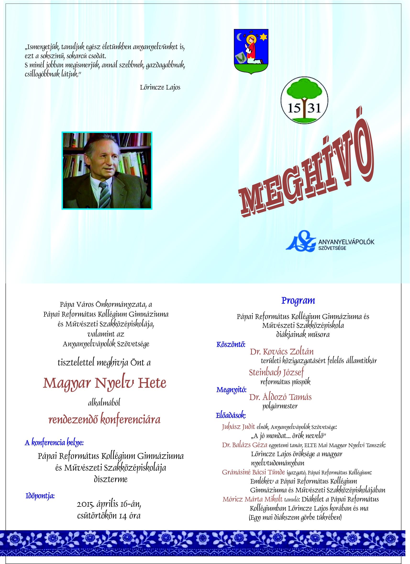 Magyar nyelv hete-meghívó-jav