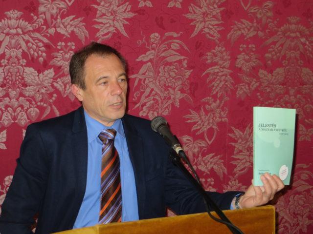 Balázs Géza az európai nyelvstratégiai fórumon